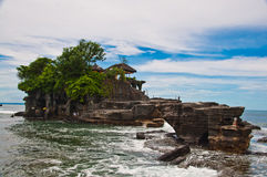 View to the Tanah Lot temple Royalty Free Stock Photos