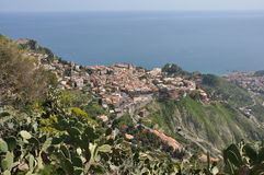 View to taormina, sicily Royalty Free Stock Images