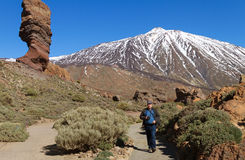 View to the Teide. Royalty Free Stock Images