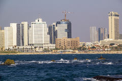 View to Tel-Aviv's Seashore .Israel Stock Photo
