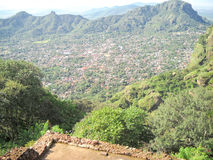A view to Tepoztlan from the hill. Mexico Royalty Free Stock Photos