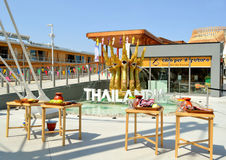A view to Thailand pavilion of EXPO Milano 2015. Stock Photography