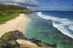 Free View To The Gris-Gris Sandy Beach, Mauritius. Royalty Free Stock Image - 47431196
