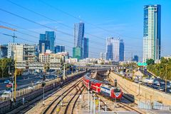 Free View To The Railway Station In Tel Aviv. Stock Images - 107819964