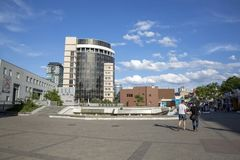View to the Theater Boulevard. Dnepr, Ukraine, may 19, 2018: View to the Theater Boulevard stock photography