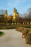 View to theatiner church at munich Royalty Free Stock Photos