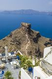 Santorini, patio over Caldera Royalty Free Stock Images