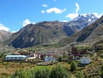View to Thorong La Pass, Ranipauwa, Nepal Stock Photography