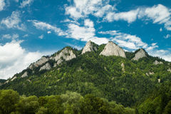 View to Three Crowns Massif in Pieniny Stock Image