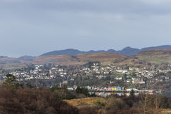 View to Tobermory on the Isle of Mull. stock images