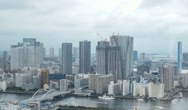 View to Tokyo Bay from Shiodome area Stock Image