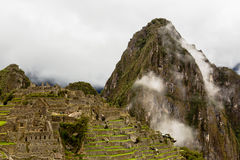View to the top of Huayna Picchu Royalty Free Stock Photos