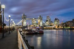 View to the Tower Bridge and the City of London Stock Image
