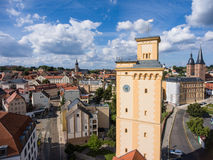 View to tower Kunstturm in Altenburg Thuringia Royalty Free Stock Image