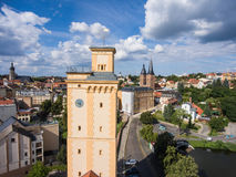 View to tower Kunstturm in Altenburg Thuringia Royalty Free Stock Photography