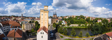 View to tower Kunstturm in Altenburg Thuringia Royalty Free Stock Images