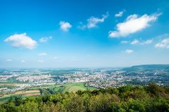 View to the town Aalen royalty free stock image