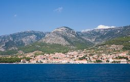 View to the town of Bol. Croatia Royalty Free Stock Image