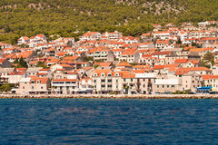 View to the town of Bol. The island of Brac. Croatia. Stock Image