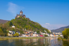 View to the town of Cochem. Stock Image