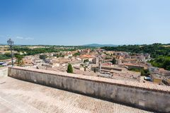 View to the town of Colle di Val d`Elsa Royalty Free Stock Photography