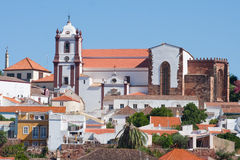 View to the town of Silves, Portugal. Royalty Free Stock Photo