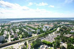 View to town of Tampere, Finland Stock Images
