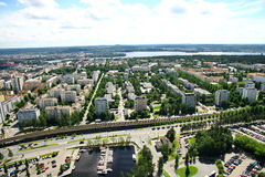View to town of Tampere, Finland Royalty Free Stock Photo