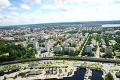 View to town of Tampere, Finland Stock Image