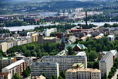 View to town of Tampere, Finland Royalty Free Stock Image