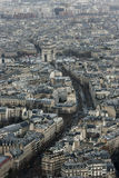 View to the Triumphal Arch. From Eiffel Tower Stock Photo
