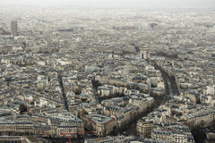 View to the Triumphal Arch. From Eiffel Tower Stock Images
