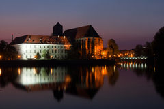 View to Tumski bridge in Wroclaw. Stock Photography