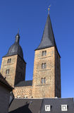 View to the two red towers, Altenburg Royalty Free Stock Photos