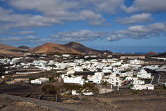 View to Uga, rural village in Lanzarote Stock Photos