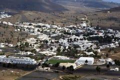 View to Uga, rural village in Lanzarote Stock Image