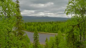 View to ural mountains. From rock stock video