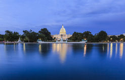 View to US Capitol at night Royalty Free Stock Photo