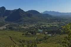 View to valley from Boland Mountain Stock Image
