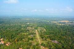 View to the valley from the top of the Sigiriya Lion Rock Fortre Royalty Free Stock Images