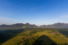 View to valley from Vang Vieng, Laos.  stock photography