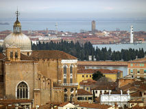 View to Venice lagoon Stock Photos