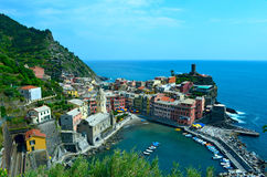 View To Vernazza At Italy Stock Photography