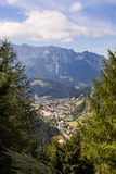 View to village Eisenerz in Styria Royalty Free Stock Photo