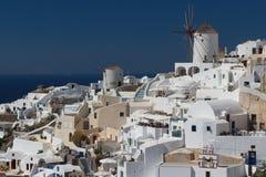 View to the village of Oia, Santorini Stock Image