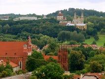 View to the Vilnius churchs Stock Image