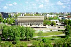 View to the Vilnius city from Gediminas castle hill Royalty Free Stock Photography