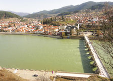 A view to Visegrad. And Bridge on the Drina Royalty Free Stock Images