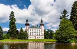 A view to Vrchlabi Castle from the pond, Czech Republic Royalty Free Stock Image