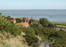 View to the Waddzee. Netherlands Royalty Free Stock Photos